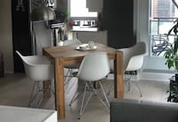 Rectangular brown wooden table with chairs EQ3 Toronto, M5J