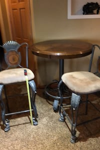 Bar set: table and two chairs