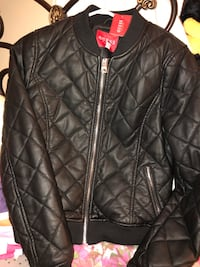 Guess leather jacket 590 km