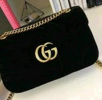 black Gucci leather crossbody bag
