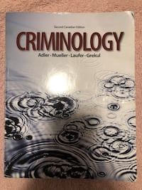Criminology book 2nd edition for sale