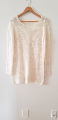 Brand new distressed cream fall sweater Vancouver