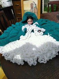 1970'a doll and crocheted dress Edmonton, T5P 2R3