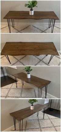 6FT x 2FT Solid Wood Rustic Modern Industrial Live Edge Dining Table