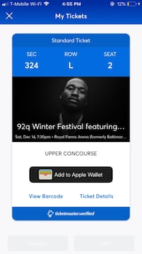 Winterfest ticket  Baltimore, 21224