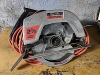 "Craftsman 7 1/2"", 2.125 HP circular saw, well maintained. Muncie"