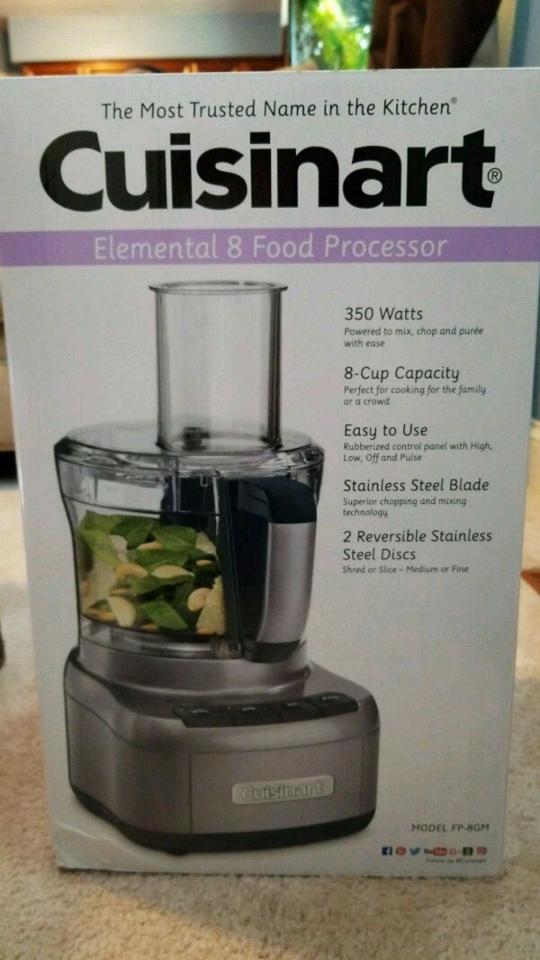 313d1dfb2353 Used Cuisinart Elemental 8 Food Processor for sale in Chesapeake - letgo