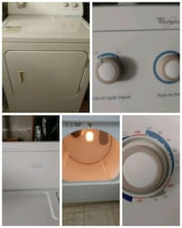 white front-load clothes dryer collage Montréal, H1R 1W3