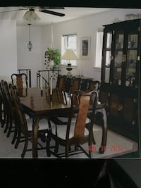 Formal dinning ,table 8 chairs 2 captain buffet and 2 piece China cabinet lighted upper Chester, 23831