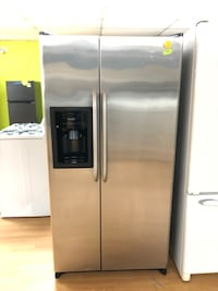 GE stainless steel side by side refrigerator