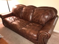Leather sofa Brick