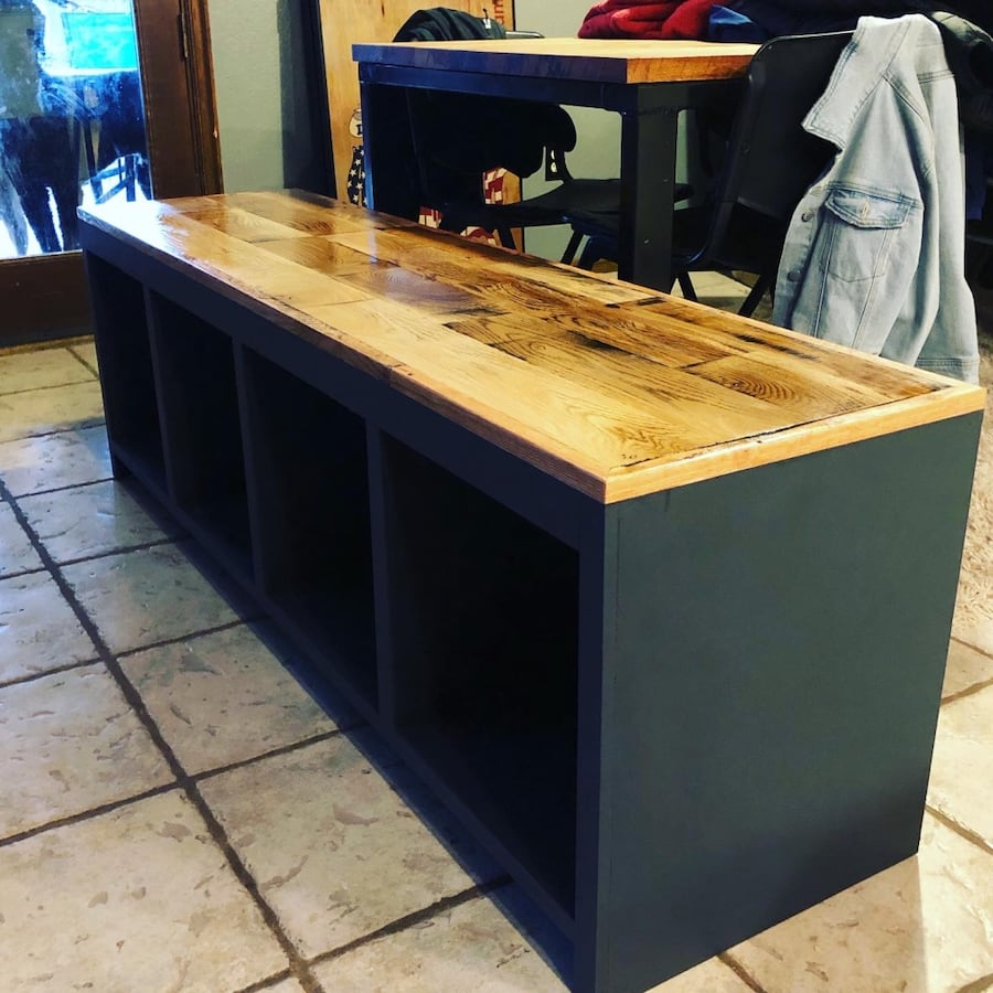 Mud room bench with storage