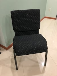 black and gray polka dot padded chair Washington, 20024