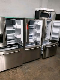 STAINLESS STEEL FRENCH DOORS FRIDGES WORKING PERFECTLY