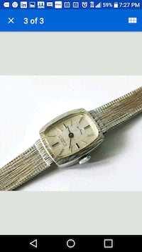 Gold Watch ladies windup 12k white gold El Paso