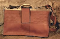 brown and black leather crossbody bag Palm Harbor, 34684