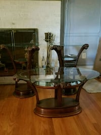 Antique claw glass end and coffee tables Baltimore, 21207