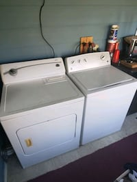 Electric washer,  gas dryer