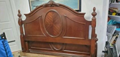 Beautiful wood King bed frame