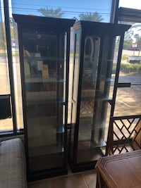 Pair of curio cabinets $169 each  Holly Hill, 32117