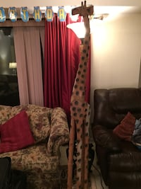 Handcrafted Tall Giraffe, African Ancient