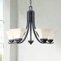 New in box five lights chandelier (Agilis Collecti Milton