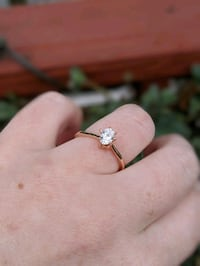 Rose Gold Diamond Engagement Ring (Size