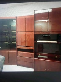 brown wooden TV hutch with flat screen television Marlboro Township, 07746
