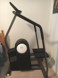 Black elliptical trainer