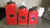 Canisters from urban barn. Brand new condition. Never used   Surrey, V4P 0C2