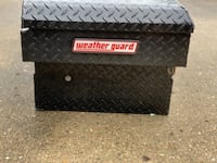 WEATHER GUARD 143-5-01 BLACK ALUMINUM E-LINE SADDLE BOX, 10.3 CU FT PITTSBURGH