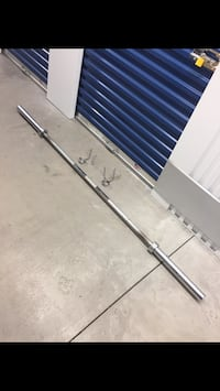 7ft Olympic Bar and 2 Spring Clips Philadelphia