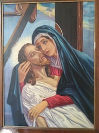 """Antique, old """"Lamentation over dead Christ"""" religious painting 539 km"""