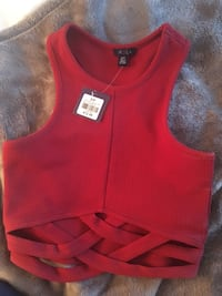 Red Crop top, fits XS Surrey, V3R