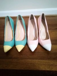 two pairs of white and blue pointed-toe pumps Alexandria, 22306