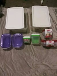 Assorted variety of storage containers & tupperwea Riverside, 92506