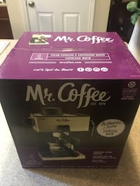 Brand new  Mr. Coffee - Steam Espresso Machine - Black/Silver Frederick, 21702
