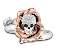 Sterling Silver Skull  MADRID