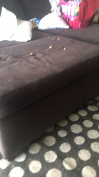black leather tufted bed headboard