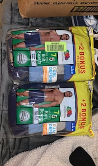 Men's brand new boxers size large 7 a pack 14 total regular $18 each