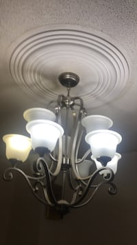 white and gray uplight chandelier Mississauga, L4T 2J7