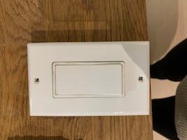 Light switch and plate