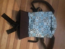 Becco baby carrier  Blue and brown backpack