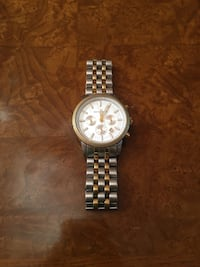 silver gold link round white MK watch for men Long Beach, 90840