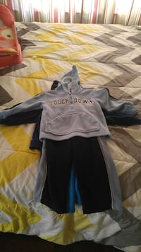 children's gray hoodie and sweat pants outfit