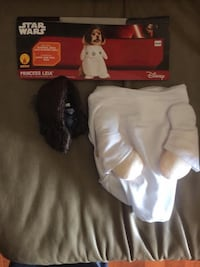 New!!  star wars collection pet costume, princess leia, small