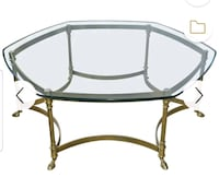 Vintage HOLLYWOOD REGENCY BRASS AND GLASS COFFEE TABLE Caldwell, 07006