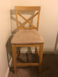 2 Brown wooden framed white padded chair Washington, 20003