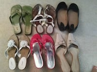 SIZE 9 of 6 pairs  sandals  and shoes  Mesa, 85212