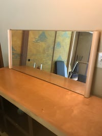 brown wooden framed wall mirror 2270 mi